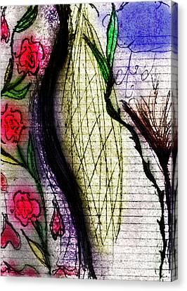 Deflower Canvas Print by Stephanie Margalski