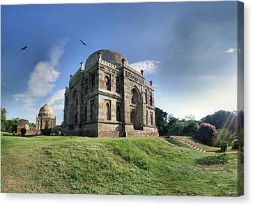 Delhi - Lodhi Gardens Tombs Canvas Print by par Etienne Cazin