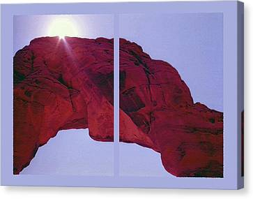 Delicate Arch Diptych Canvas Print by Steve Ohlsen