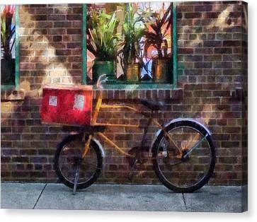 Delivery Bicycle Greenwich Village Canvas Print by Susan Savad