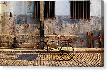 Delivery Bike Canvas Print by Kimberley Bennett