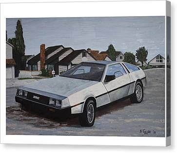 Delorean Canvas Print by Nate Geare