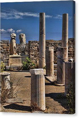 Statue Of David Canvas Print - Delos Island by David Smith