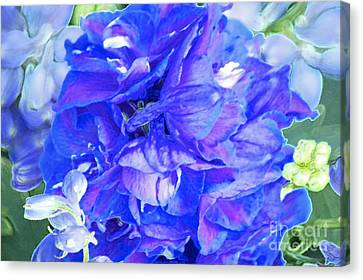 Delphinium Blue Canvas Print by Gwyn Newcombe
