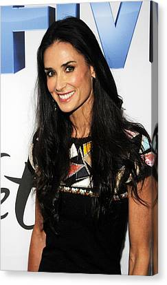 Demi Moore Wearing A Chanel Dress Canvas Print by Everett