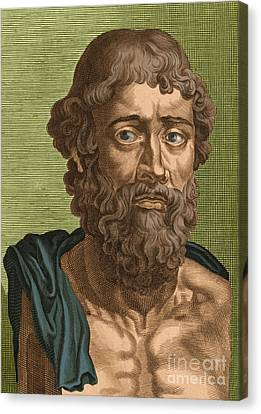 Demosthenes, Ancient Greek Orator Canvas Print by Photo Researchers