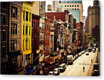 City Streets Canvas Print - Density - Above Chinatown - New York City by Vivienne Gucwa