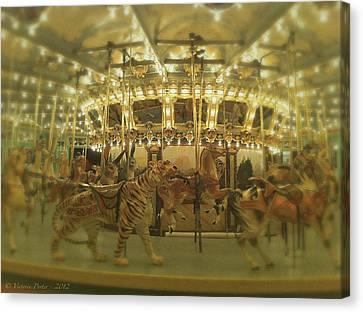 Dentzel Carousel At Glen Echo Park Maryland Canvas Print