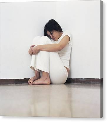 Psychiatric Canvas Print - Depressed Woman by Cristina Pedrazzini
