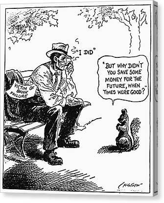 Depression Cartoon 1932 Canvas Print by Granger