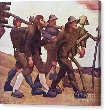 Der Totentanz Von Anno Neun Canvas Print by Pg Reproductions