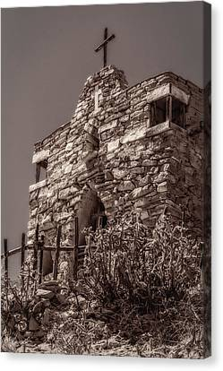 Canvas Print featuring the photograph Desert Chapel by Ken Stanback