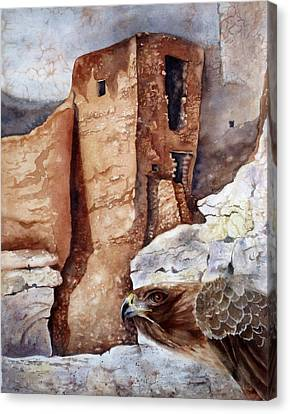 Canvas Print featuring the painting Desert Dwellers by Mary McCullah