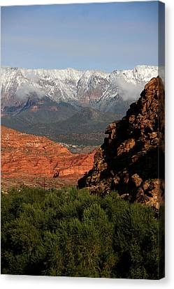 Desert Foothills II Canvas Print by Marta Alfred