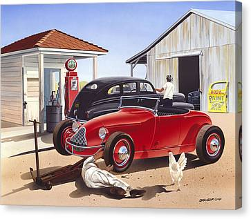 Desert Gas Station Canvas Print