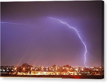 Desert Lightning Canvas Print by Jennifer Nixon