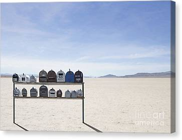 Desert Mailboxes Canvas Print by Dave & Les Jacobs