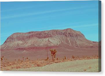 Desert Mountain Canvas Print by Naxart Studio