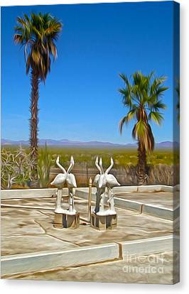 Desert Oasis - 03 Canvas Print by Gregory Dyer
