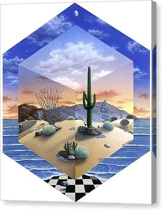 Desert On My Mind 2 Canvas Print by Snake Jagger
