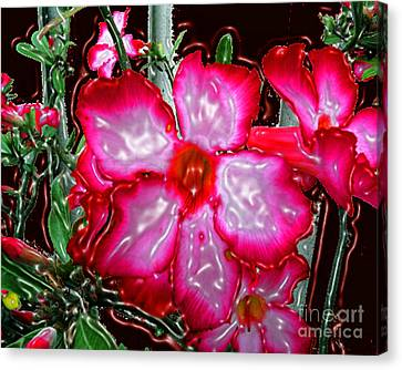 Desert Rose Digitally Painted And Plasticized Canvas Print by Merton Allen
