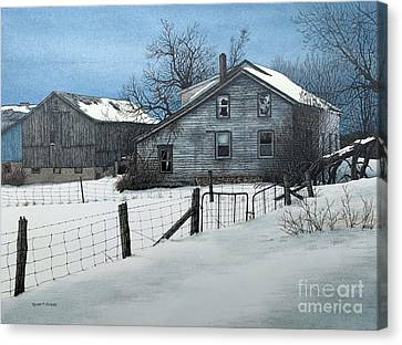 Deserted Farm Prince Edward County Canvas Print
