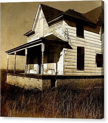 Abandoned House Canvas Print - Deserted House by Bonnie Bruno