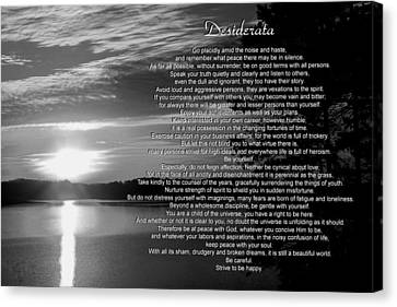 Canvas Print featuring the photograph Desiderata by George Bostian