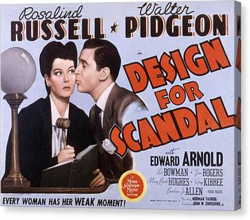 Design For Scandal, Rosalind Russell Canvas Print by Everett