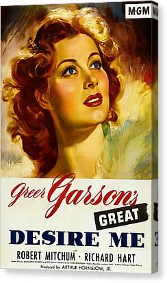 Desire Me, Greer Garson On 1-sheet Canvas Print by Everett