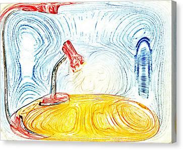 Desk Lamp Canvas Print by Tom Gowanlock