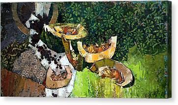 Cantaloupe Canvas Print - Dessert. by Anastasija Kraineva