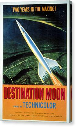 Horror Fantasy Movies Canvas Print - Destination Moon, 1950 by Everett