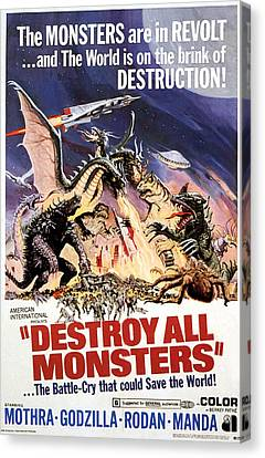 Destroy All Monsters, 1968 Canvas Print by Everett