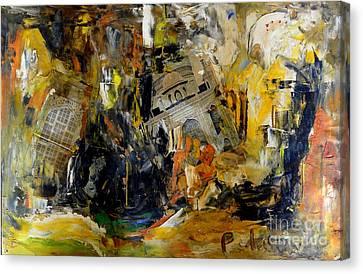 Destruction Of The Taj Mahal Canvas Print by Padamvir Singh