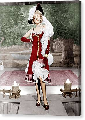 Destry Rides Again, Marlene Dietrich Canvas Print by Everett