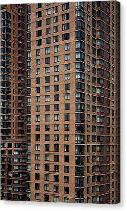 Detail Of High Rise-buildings, Manhattan, New York City, Usa Canvas Print by Frederick Bass