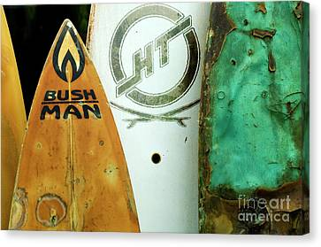 Detail Surfboard Fence Canvas Print by Bob Christopher