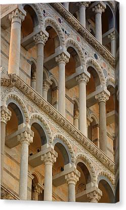 Detailed Close-up Of Piazza Del Canvas Print by Carson Ganci