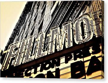 Detroit Fillmore Theatre Canvas Print by Alanna Pfeffer