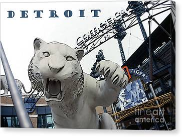 Detroit Tigers I Canvas Print by Linda  Parker