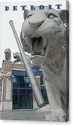Detroit Tigers II Canvas Print by Linda  Parker