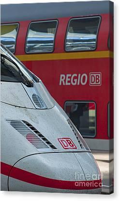 Deutche Bahn Trains Canvas Print by Andrew  Michael