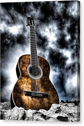 Devils Acoustic Canvas Print by Jason Abando