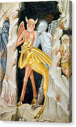 Psychiatric Canvas Print - Devils And Hell's Flames, 14th Century by Sheila Terry