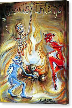 Ghost Story Canvas Print - Devil's Inferno by Heather Calderon