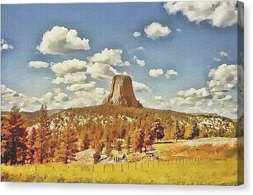 Devils Tower Canvas Print by Maciek Froncisz