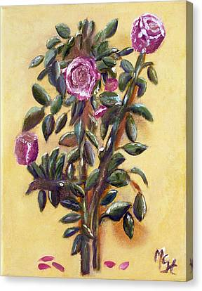Canvas Print featuring the painting Dew Upon The Roses by Margaret Harmon