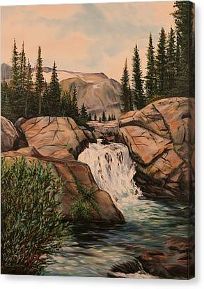 Dewey Falls Canvas Print by Patti Gordon