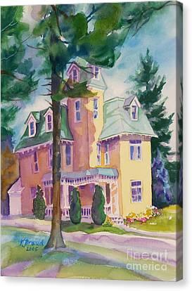 Dewey-radke Glowing Canvas Print by Kathy Braud